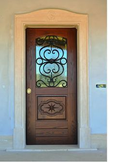 Tuscany Single Iron Door, but with a doggy door on the
