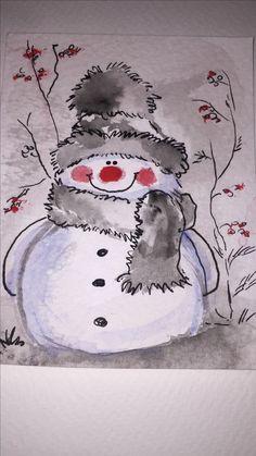 Christmas canvas art for kids 16 Ideas Christmas Canvas, Christmas Paintings, Christmas Art, Christmas Decorations, Handmade Christmas, Painted Christmas Cards, Christmas Drawing, Vintage Christmas, Watercolor Christmas Cards