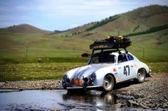 cross-country in Porsche 356
