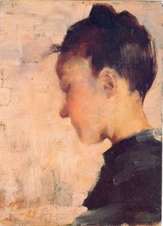It's About Time: Woman Artist - Helene Schjerfbeck Helene Schjerfbeck, Painting People, Figure Painting, Painting & Drawing, Figurative Kunst, Female Profile, Scandinavian Art, Portrait Art, Helsinki