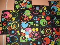 Une photo d'un travail de mes petits l'an dernier sur le rond, en hommage à Kandinsky stasia