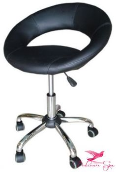Salon Nail Technician Stool Is Ergonomically Designed Comes With A Rounded Back For Support And Silent Easy Roll Casters