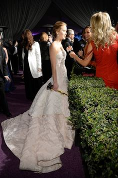 Jennifer Lawrence. What a dress.