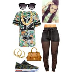 A fashion look from September 2014 featuring MCM shoulder bags and Fendi sunglasses. Browse and shop related looks.