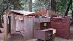 Housekeeping camp unit setup in Yosemite