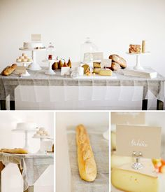 Amazing Cheese Table, perfect for a French Theme Party Bread Display, Cheese Display, Cheese Table, Cheese Dessert, French Themed Parties, A Well Traveled Woman, Cheese Party, Paris Party, Festa Party