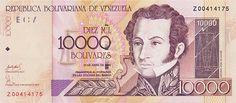 Pieza bbcv10000bs-bb01r (Anverso). Billete del Banco Central de Venezuela. 10000 Bolívares. Diseño B, Tipo B. Fecha Abril 25 2006. Serie Z8. Billete de reposición