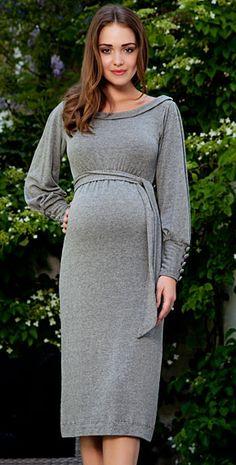 Alicia Maternity Dress (Storm Grey) by Tiffany Rose
