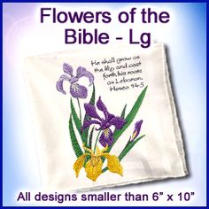 A Flowers of the Bible Design Pack - Lg design (X5452) from www.Emblibrary.com