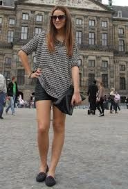black leather shorts outfits - Google Search