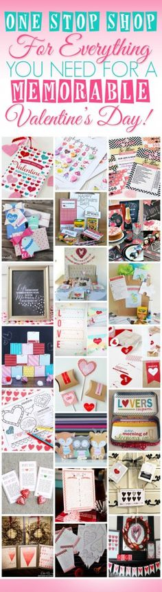 WOW!  121 Pages of cute Valentine's Printables for ONLY $7?!!!  Anything and everything anyone would ever need to pull off the best Valentine's Day ever!