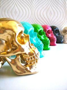 Skull Head in silver  Mr Smiley par mahzerandvee sur Etsy, $28.00