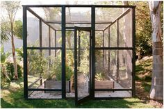 Screened in raised bed garden room to keep out birds, bunnies and other pests...