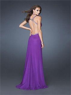 $118 Beaded Straps Sweetheart Open Back Chiffon Prom Dress PD2433 http://www.simpledresses.co.uk