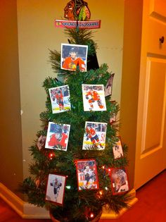 We miss hockey so much that we decided to make a Chicago Blackhawks Tree...