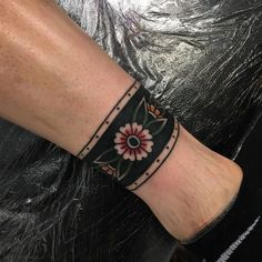 "keepholdstaybold: ""Ankle cuff. (at The Black Cult private tattoo studio.) """