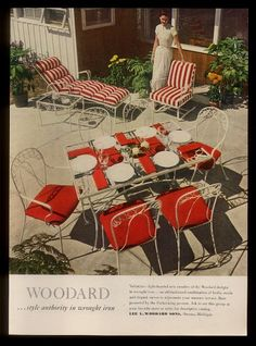 SISTERS ANTIQUES Catalog Of Vintage Patio Woodard 1949 Valentine