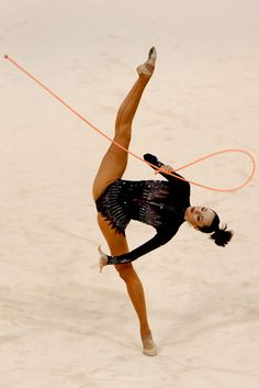 Anna Bessonova Photos: Olympics / Rhythmic Gymnastics #rope #rhythmic #gymnastics