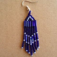 How to make bugle bead earrings with fringe via @Guidecentral - Visit www.guidecentr.al for more #DIY #tutorials
