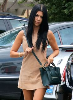 Kourtney Kardashian Céline Nano Luggage  Tote