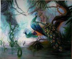 Image result for peacocks art