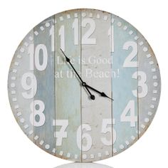 Round Beach Wall Clock - Lights & Other Things - on Temple & Webster today Wall Clock Light, Wall Clocks, Old Room, Home Accents, My Dream Home, Temple, Home Goods, Lamps, Tic Toc