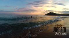 Silveira Beach at Santa Catarina State in Brazil.
