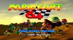 Mario Kart 64 is a classic, and somehow, the game hasn't come to Wii U's virtual console. The racing game was a staple of every Nintendo so it is wild Super Nintendo, Nintendo 64, Mario Kart 64, Mario Bros, Super Mario Toys, V Video, Xbox 1, Retro Gamer, Play To Learn