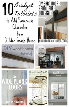 How to add farmhouse style to a builder basic home!