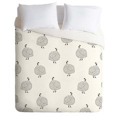 Kangarui Guinea Fowls On Safari Duvet Cover | DENY Designs Home Accessories