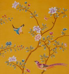 Chinoiserie Wallpaper with Birds | So whether the project calls for classic birds and blossom chinoiserie ...