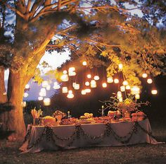 Mason Jar Lanterns. I shall put them in my future garden! XD They look spectacular!