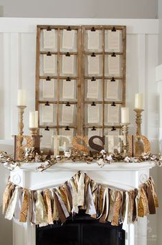 how-to-make-fabric-covered-letters thanksgiving mantle idea Thanksgiving Mantle, Thanksgiving Crafts, Thanksgiving Decorations, Holiday Decorations, Fabric Covered Letters, Fabric Letters, Mantelpiece Decor, Log Home Interiors, Diy Banner