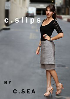 A slip designed to show beneath skirts/dresses that are too short. Will lengthen the skirt/dress. Brilliant!