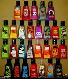 1 Bath Body Works Halloween PocketBac Anti Bacterial Hand Gel Sanitizer U Pick | eBay
