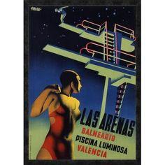 "Global Gallery 'Las Arenas' by Josep Renau-Montoro Framed Vintage Advertisement Size: 38"" H x 27"" W x 1.5"" D"