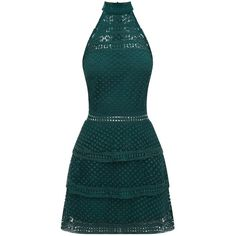 Emerald Green Lace Panel Tiered Bodycon Dress (505 DKK) ❤ liked on Polyvore featuring dresses, lace panel dress, emerald green cocktail dress, bodycon dress, blue cocktail dress and blue body con dress