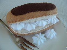 Felt Food - Chocolate Eclair
