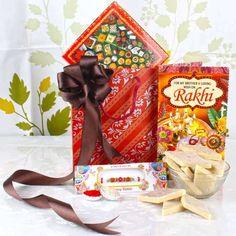 Rakhi Gift of Kaju Sweets with Rakhi Card Rakhi Cards, Raksha Bandhan Gifts, Fresh Cake, Rakhi Gifts, India Online, Online Greeting Cards, Flowers Online, Online Gifts, Christmas Stockings