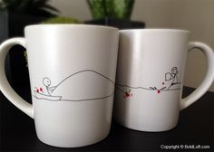 78 Best His And Hers Coffee Mugs Images In 2019 Couple Mugs
