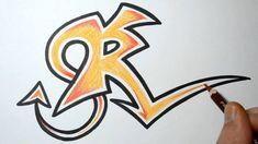 How to Draw Wild Graffiti Letters - R