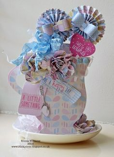 Love A Cuppa by Emma Williams Quilling Flowers, Paper Flowers, Craftwork Cards, Educational Crafts, Shaped Cards, Pop Up Cards, Card Sketches, Happy Birthday Me, Diy Art