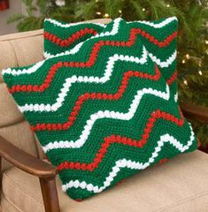 Yarnspirations is the spot to find countless free easy crochet patterns, including the Red Heart Christmas Ripple Pillows. Browse our large free collection of patterns & get crafting today! Christmas Crochet Patterns, Holiday Crochet, Christmas Knitting, Crochet Crafts, Crochet Yarn, Crochet Projects, Crochet Ideas, Crochet Ripple, Afghan Crochet Patterns