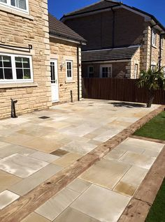 Standard indian sandstone paving jewson budget range for Garden decking jewsons