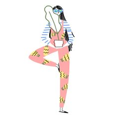 X - textura roupa shape Kenesha Sneed Yoga Illustration, People Illustration, Pattern Illustration, Illustrations, Character Illustration, Motion Design, Cool Drawings, Character Design, Artsy