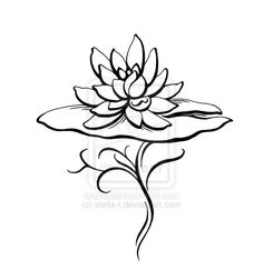 Lotus. Like how it's coming up from the water and lily pad. (Getting through water: hard time in life)