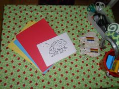 Activity Craft Table at a Lady Bug Party