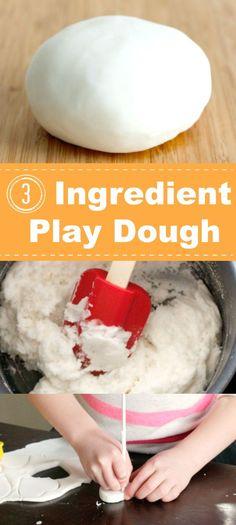 3 Ingredient Play Dough Pinterest