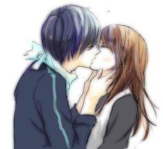 Yato x Hiyori [by http://www.pixiv.net/member_illust.php?mode=medium&illust_id=42655892]