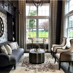 Great pattern and texture Living Room by Mary Cook and Associates